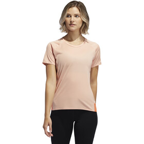 adidas 25/7 Rise Up N Run Kurzarm T-Shirt Damen glossy pink